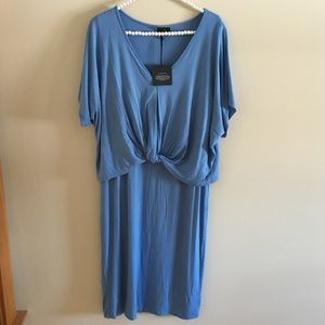 NWT Bobeau T-shirt blue dress XL